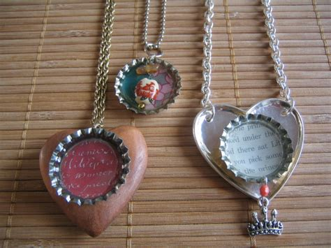 how to make bottle cap jewelry cathie filian make this bottle cap pendants