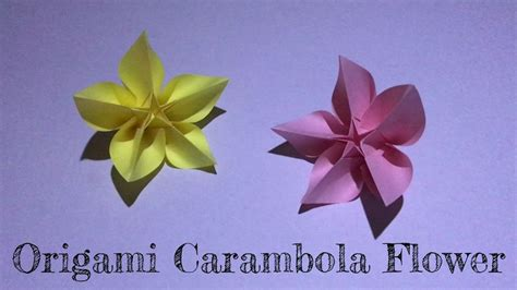 small origami flower box diy origami carambola flower 楊桃花摺紙 my crafts
