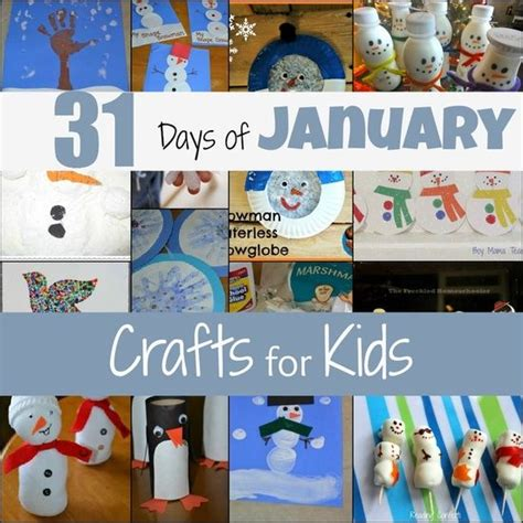 january crafts 31 days of january crafts for because i work with