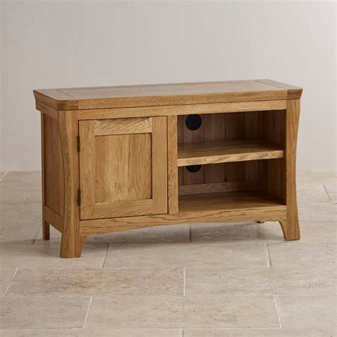 solid oak tv cabinet orrick tv cabinet in rustic solid oak oak furniture land