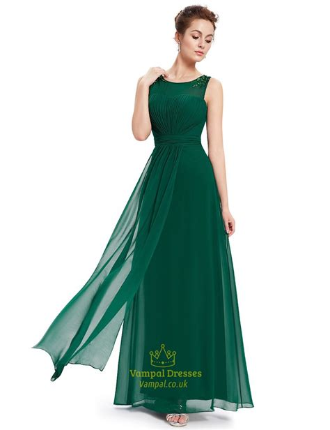 beaded chiffon bridesmaid dresses emerald green chiffon floor length bridesmaid dresses with