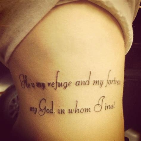 psalm 91 tattoo tats pinterest