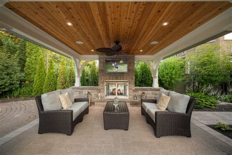 spring landscaping ideas patio transitional with recessed