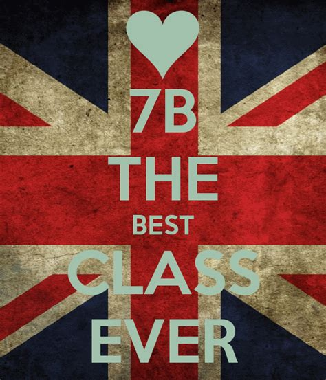 the best 7b the best class poster andrada keep calm o matic