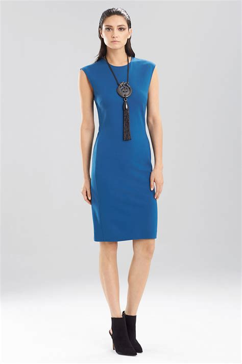 jersey knit dress natori knit jersey sleeveless dress in blue lyst