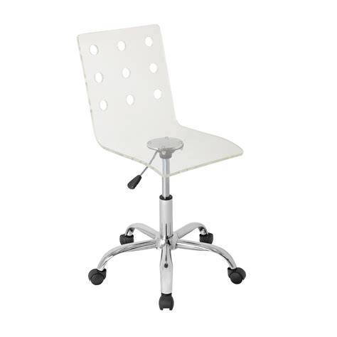 acrylic desk chair swiss acrylic office chair clear