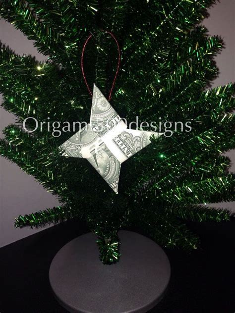 money origami tree tree ornaments made w real money origami unique