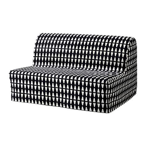 black sofa slipcover lycksele sleeper sofa slipcover ebbarp black white ikea