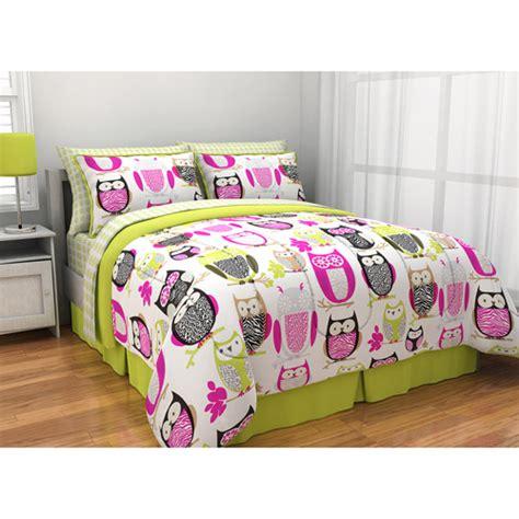 owl bedding set latitude sketchy owl reversible bed in a bag walmart