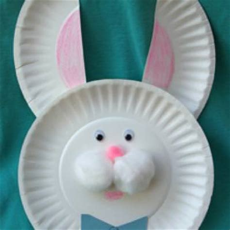 easter bunny paper crafts paper plate easter bunny easy craft tip junkie