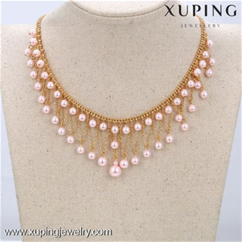 new beaded jewelry designs 42551 xuping pearl necklace designs bead