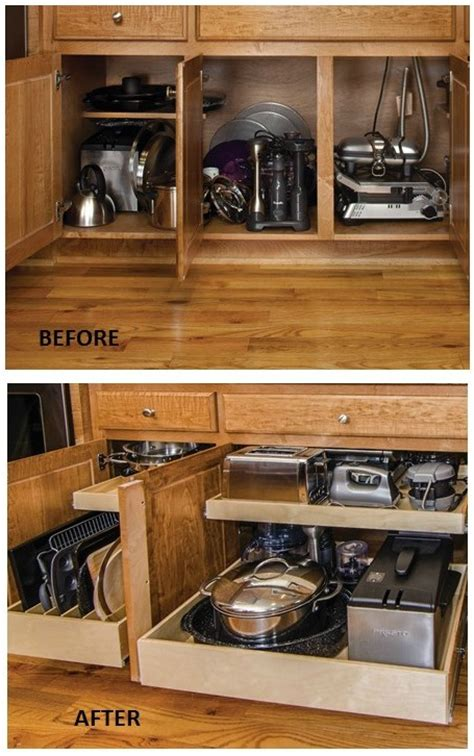 kitchen cabinet organizing ideas remodelaholic convenient and space saving cabinet