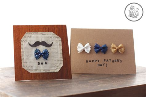 fathers day card to make diy s day cards with bow tie pasta the gold jellybean