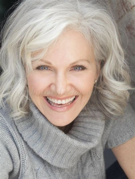 mid length grey hair wavy hairstyles for women over 50 hairstyle gallery