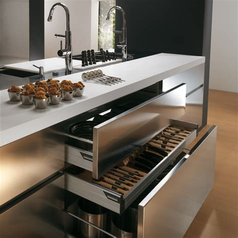 stainless cabinets kitchen contemporary stainless steel kitchen cabinets elektra plain steel by ernestomeda digsdigs