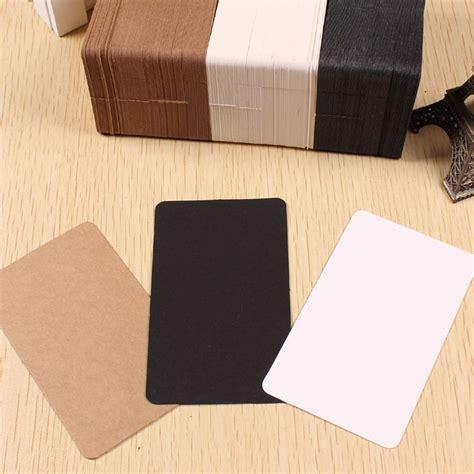 thick craft paper 200pcs lot 6 10cm thick retro blank kraft paper diy