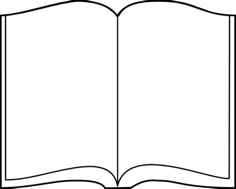 outline picture of a book open book outline clip at clker vector clip