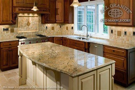Kitchen Countertops And Backsplash granite countertops with mixed wood cabinets dmarmolinc