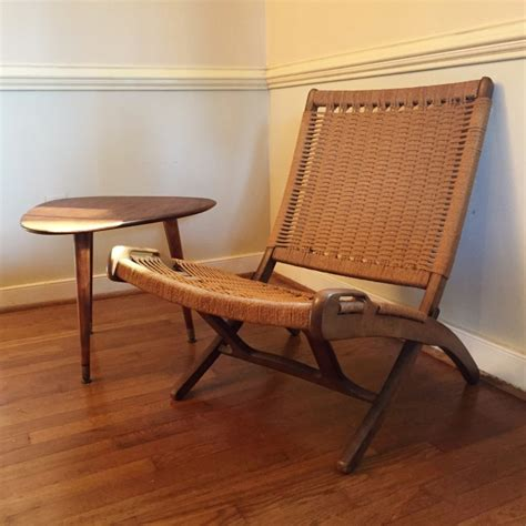 Mid Century Folding Chair by Vintage Mid Century Modern Folding Rope Chair In The Style