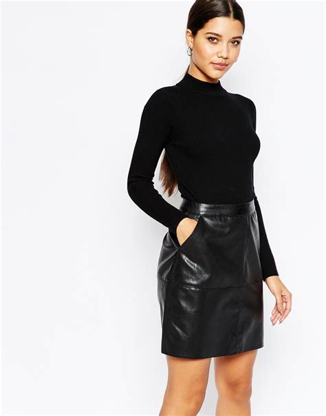 lipsy knitted dress lipsy 2 in 1 knitted pencil dress with pu skirt the