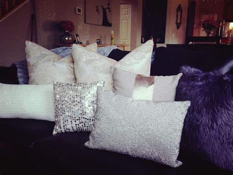 bling home decor glam pillows sequin bling home decor