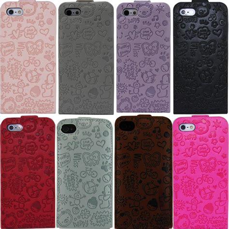 fundas para iphone 5s originales fundas en piel iphone 5s 5 4s 4 fucsia rosa negro lila