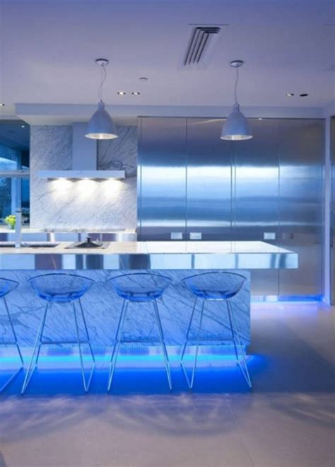 contemporary kitchen light fixtures ultra modern kitchen design with led lighting fixtures