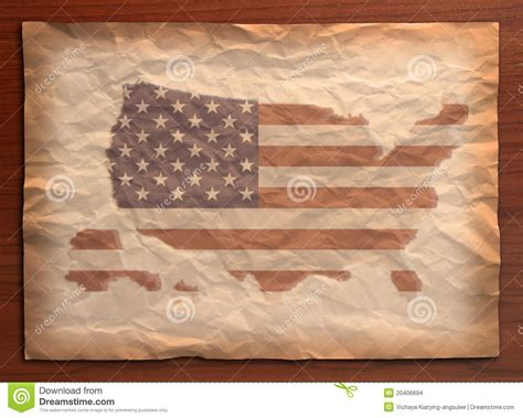 map craft paper vintage usa map on paper craft stock images image 20406694