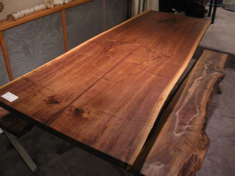 black walnut table top handmade walnut live edge slab x base table by woodrich