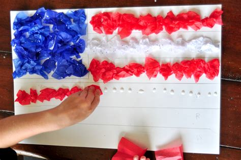 independence day crafts 4th of july tissue paper craft for blissfully domestic