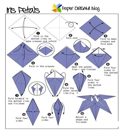 how to fold origami lotus flowers origami iris flowers paper origami folding