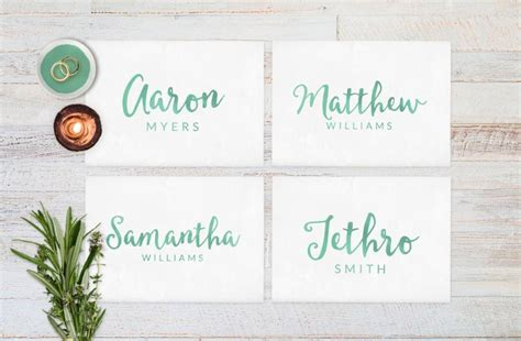 how to make name place cards wedding place cards wedding reception decor place cards