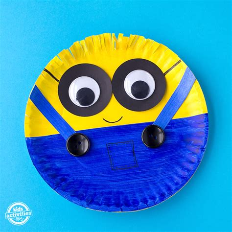 paper plates craft easy paper plate minion craft