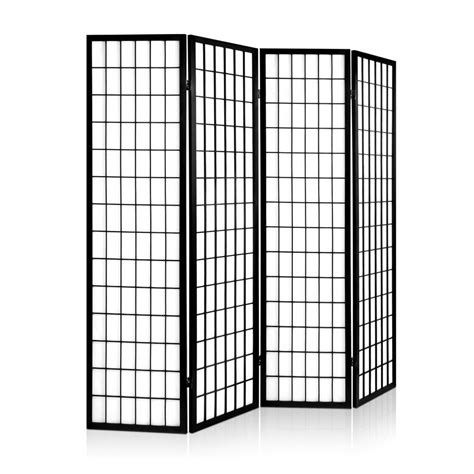room divider panels room divider 4 panel black