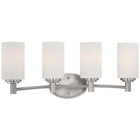 home depot bathroom lighting brushed nickel lighting prestige 5 light brushed nickel wall