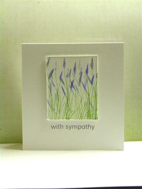 make sympathy card handmade sympathy card the handmade card