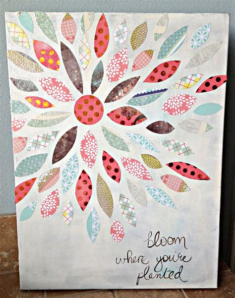 paper crafts and scrapbooking summer crafting day 12 paper flower canvas me my