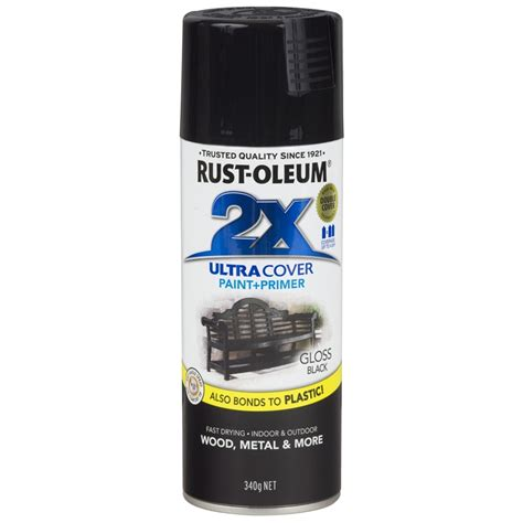spray paint black rust oleum 340g ultra cover 2x gloss black spray paint