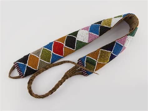beaded belt early 20th century american indian beaded