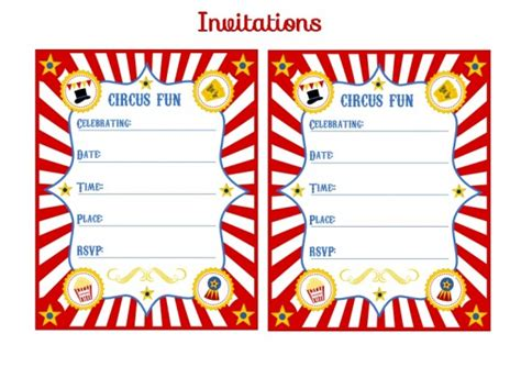 blank circus invitations templates free clipart best