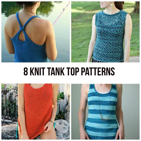 Knit Tank Top Patterns For Summer