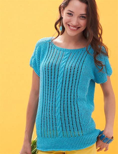free knitted top patterns patons breezy dolman top knit pattern yarnspirations