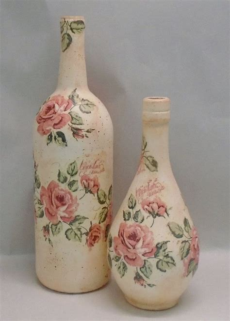 decoupage on glass bottles best 25 decoupage glass ideas on decorated