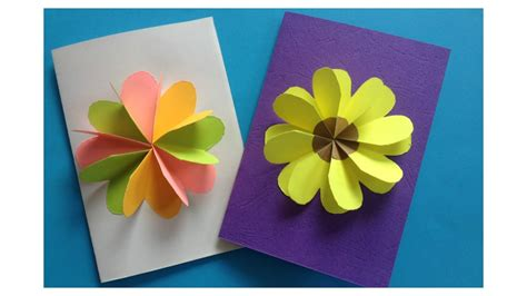 how to make a flower card how to make easy flower card diy flower card template