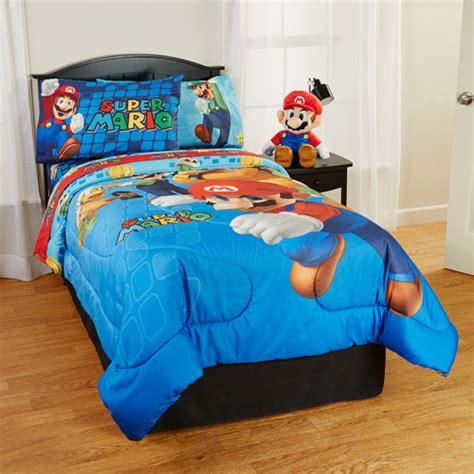 mario bedding set mario comforter walmart