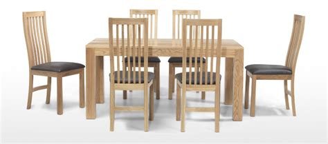 dining table and chairs for 6 cube oak 160 cm dining table and 6 chairs quercus living