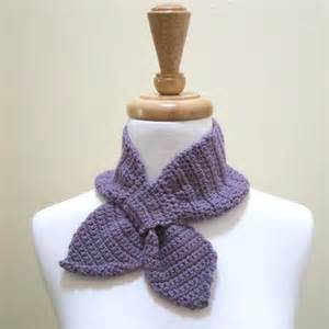 ascot scarf knitting pattern ascot keyhole bowtie scarf free knitting and crochet
