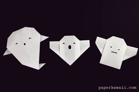 origami ghost easy origami ghost tutorial for paper kawaii