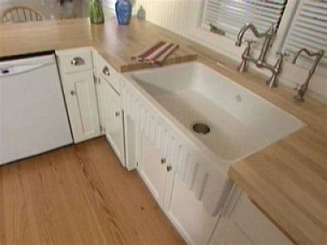 installing an apron front sink