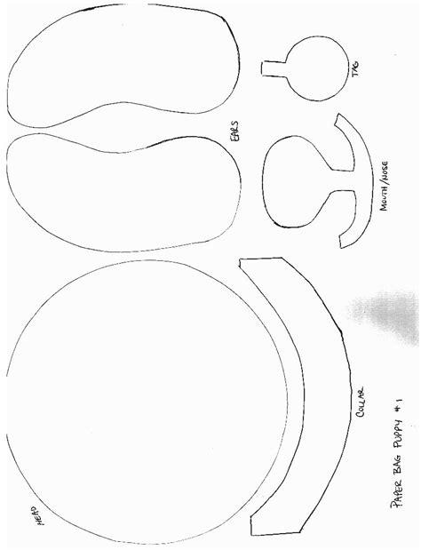 free paper craft patterns paper bag puppet patterns